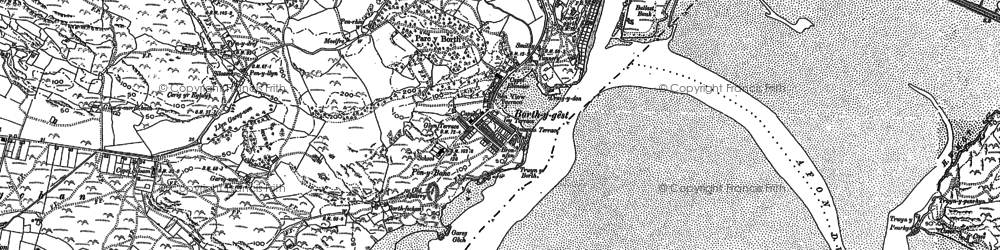 Old map of Borth-y-Gest in 1887