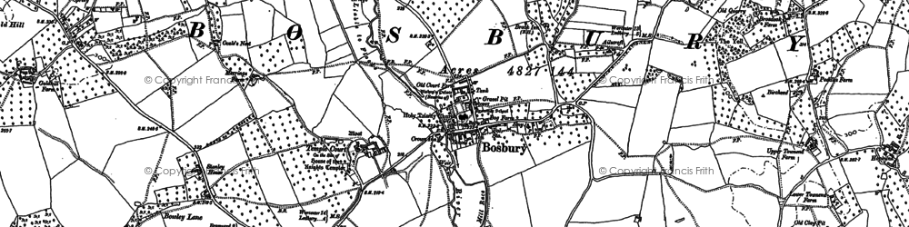Old map of Bosbury in 1886