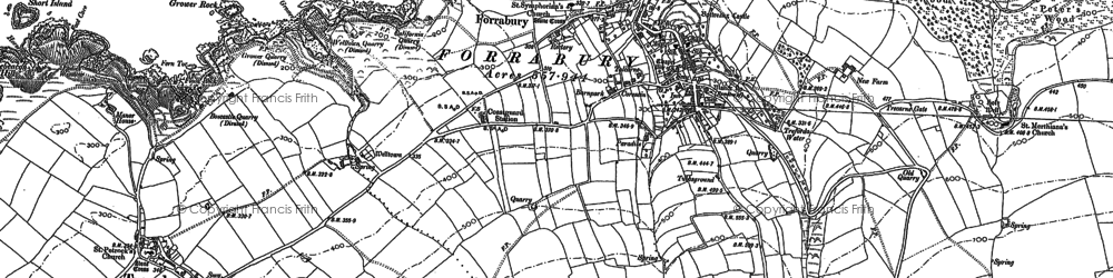 Old map of Boscastle in 1905