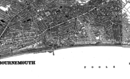 Old Map of Boscombe, 1908