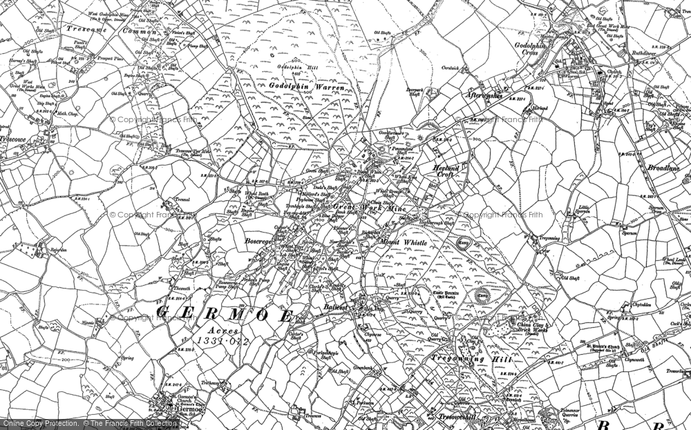 Old Map of Historic Map covering Balwest in 1907