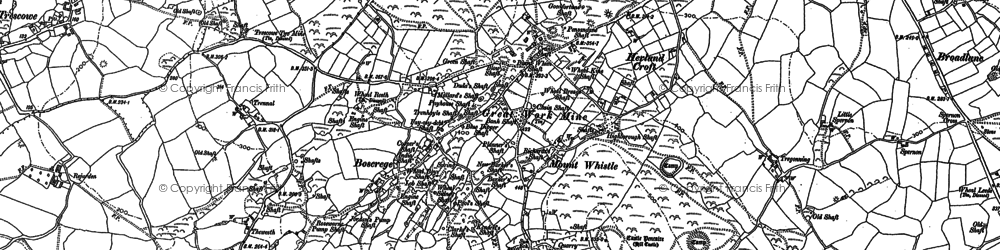 Old map of Boscreege in 1907