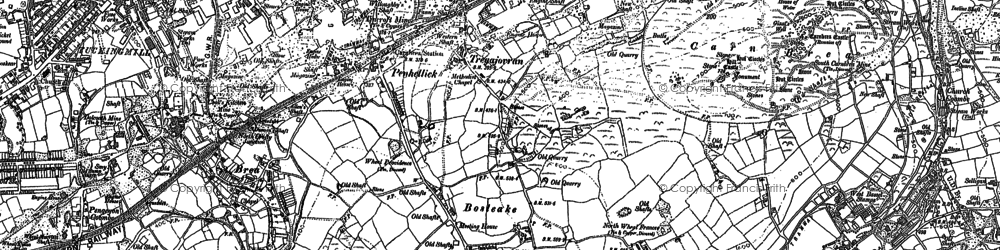Old map of Bosleake in 1878