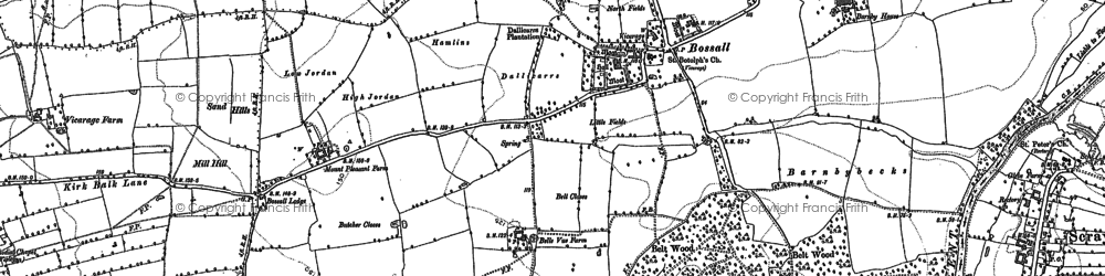 Old map of Willow Bridge in 1891