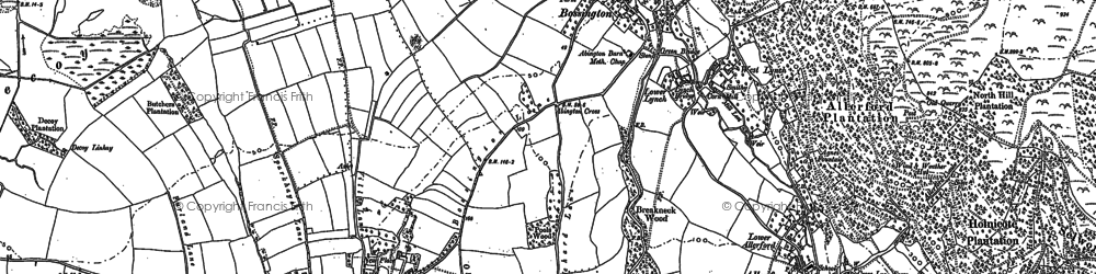 Old map of Bossington in 1902