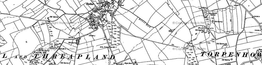 Old map of Wharrels Hill in 1899