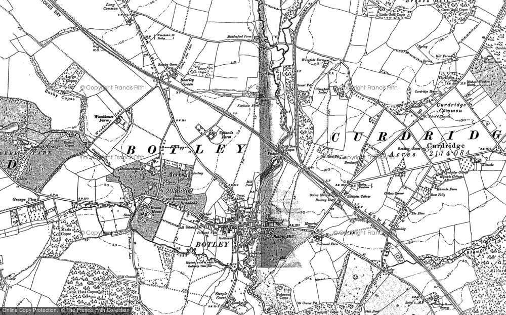 Old Map of Botley, 1895 in 1895
