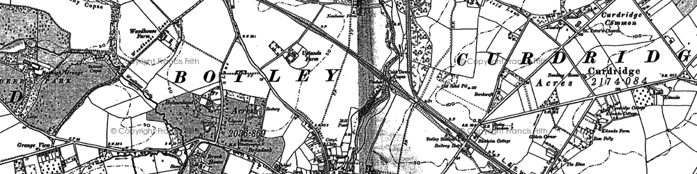 Old map of Botley in 1895