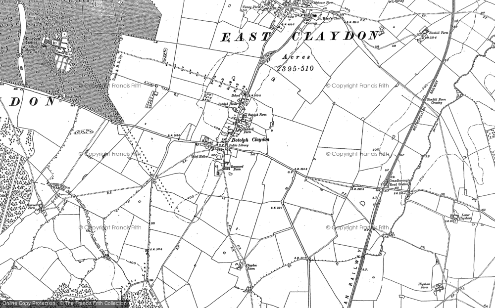 Old Map of Historic Map covering Balmore Wood in 1898