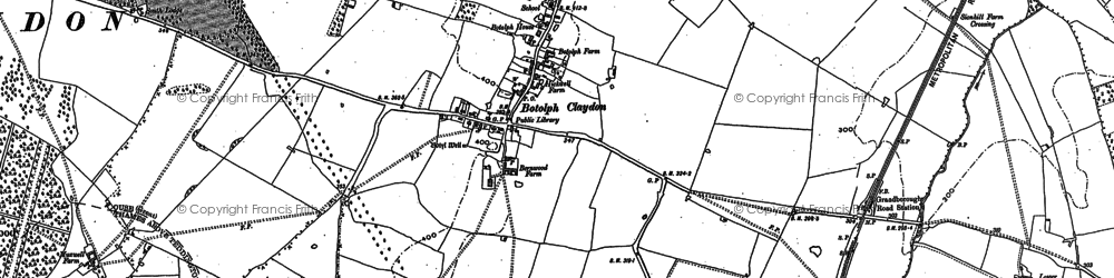 Old map of Balmore Wood in 1898