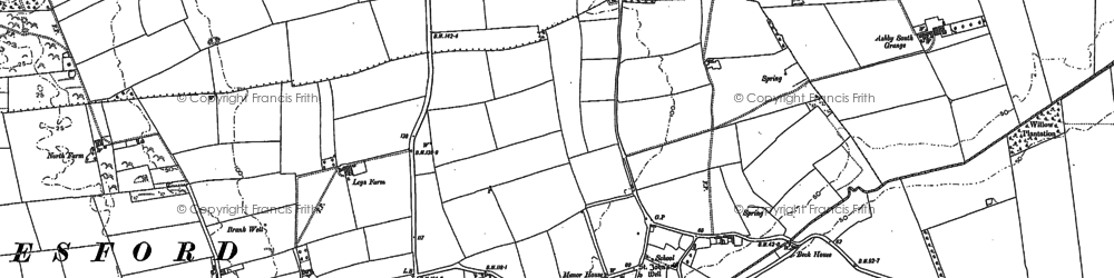 Old map of Bottesford in 1886