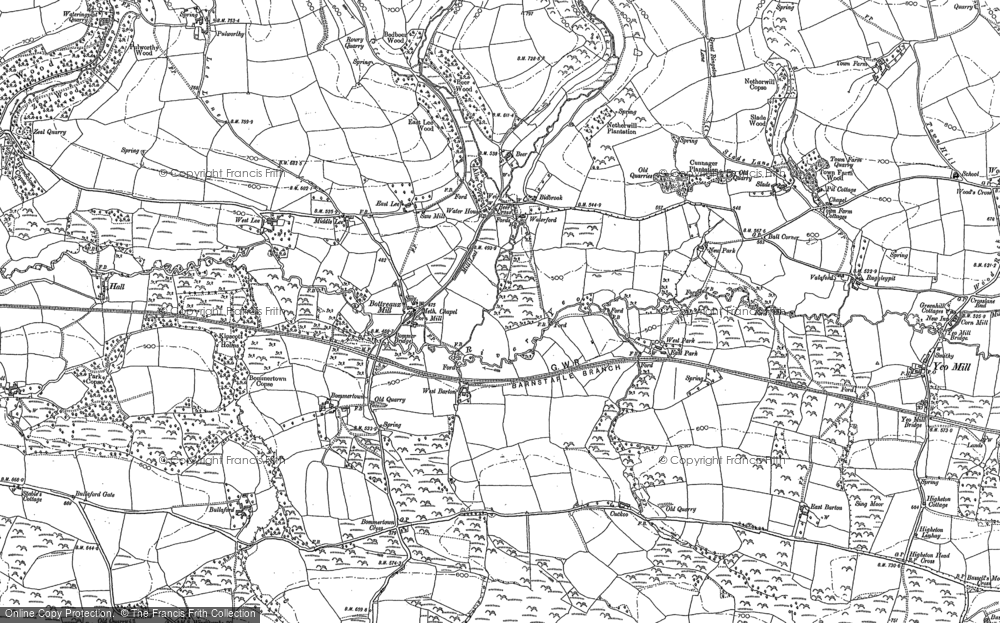 Old Map of Historic Map covering Lee in 1903