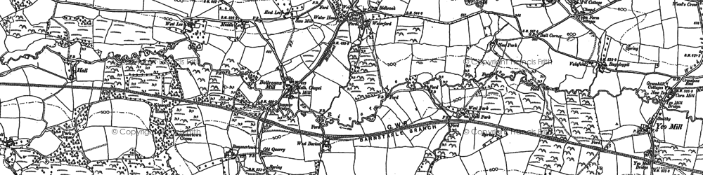 Old map of Wester New Moor in 1903
