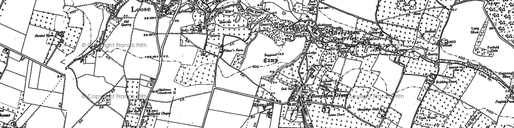 Old map of Boughton Monchelsea in 1867