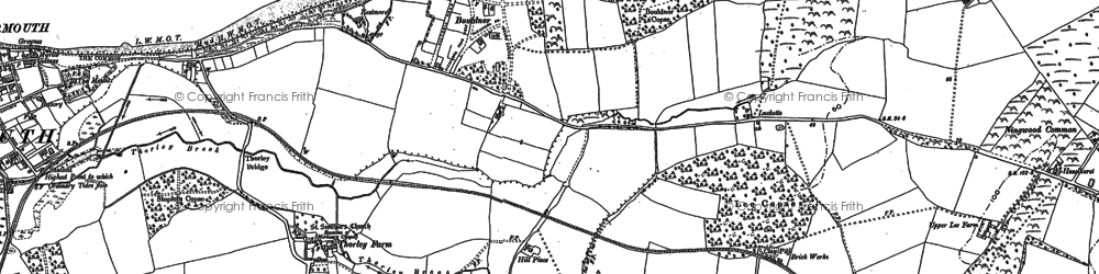 Old map of Bouldnor in 1896