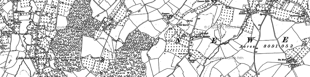 Old map of Acorn Wood in 1882