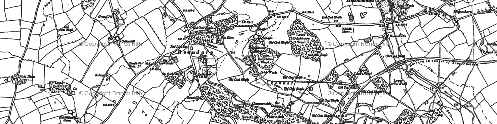Old map of Adderley in 1879