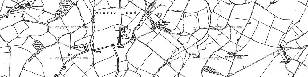 Old map of Bourne End in 1882