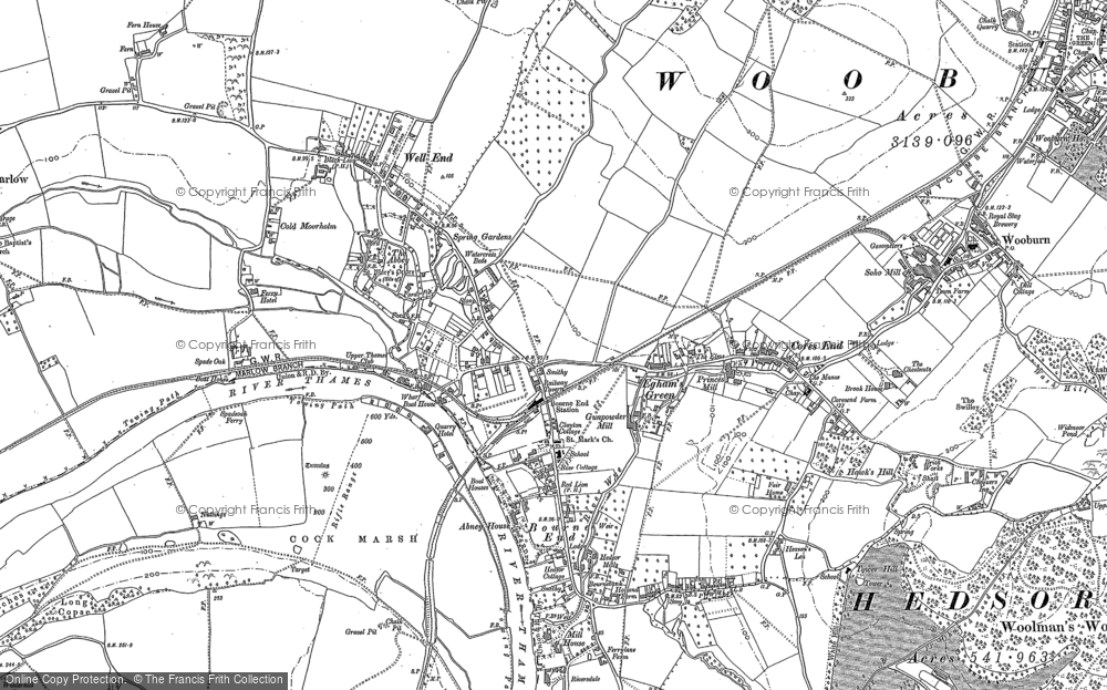 Map of Bourne End, 1897 - 1910