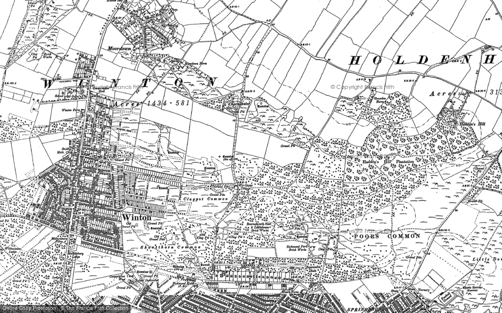 Old Map of Bournemouth, 1907 - 1908 in 1907