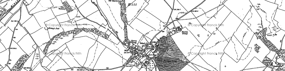 Old map of Woodhousefield in 1882