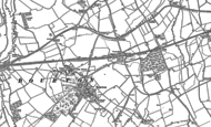 Old Map of Bourton, 1910