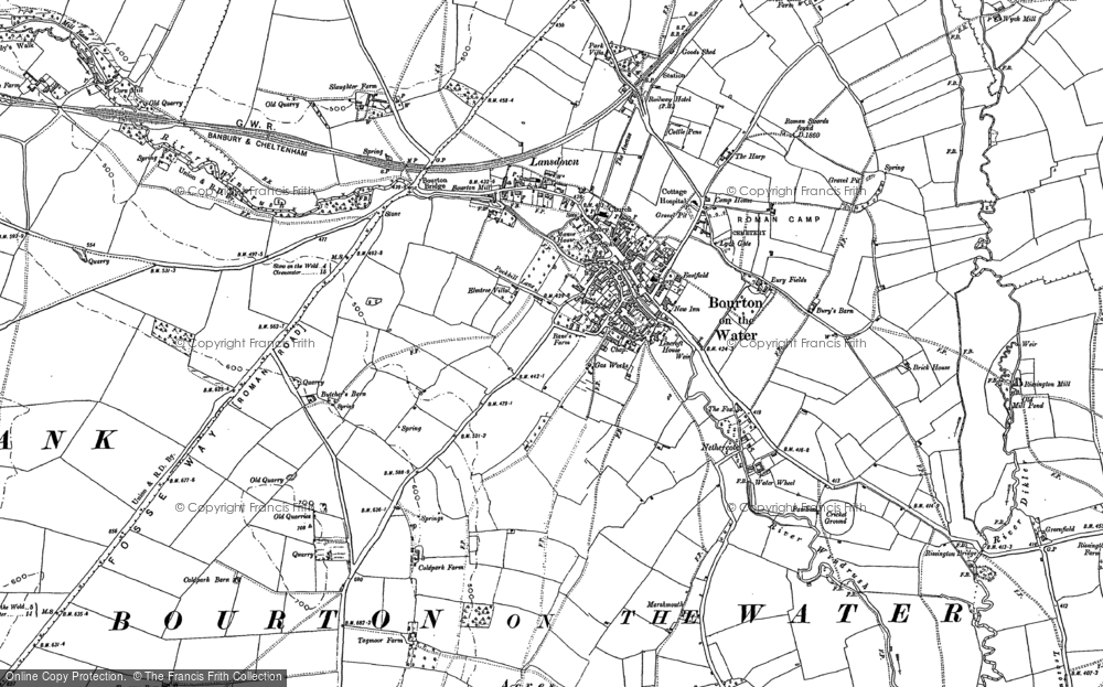 Bourton On The Water Map Map of Bourton on the Water, 1883   1900   Francis Frith Bourton On The Water Map