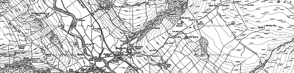 Old map of Light Hill in 1907