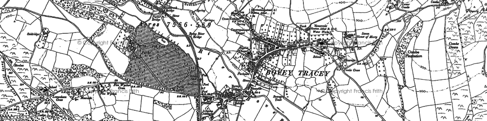 Old map of Whitstone Ho in 1887