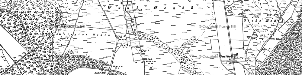 Old map of Wool Heath in 1886