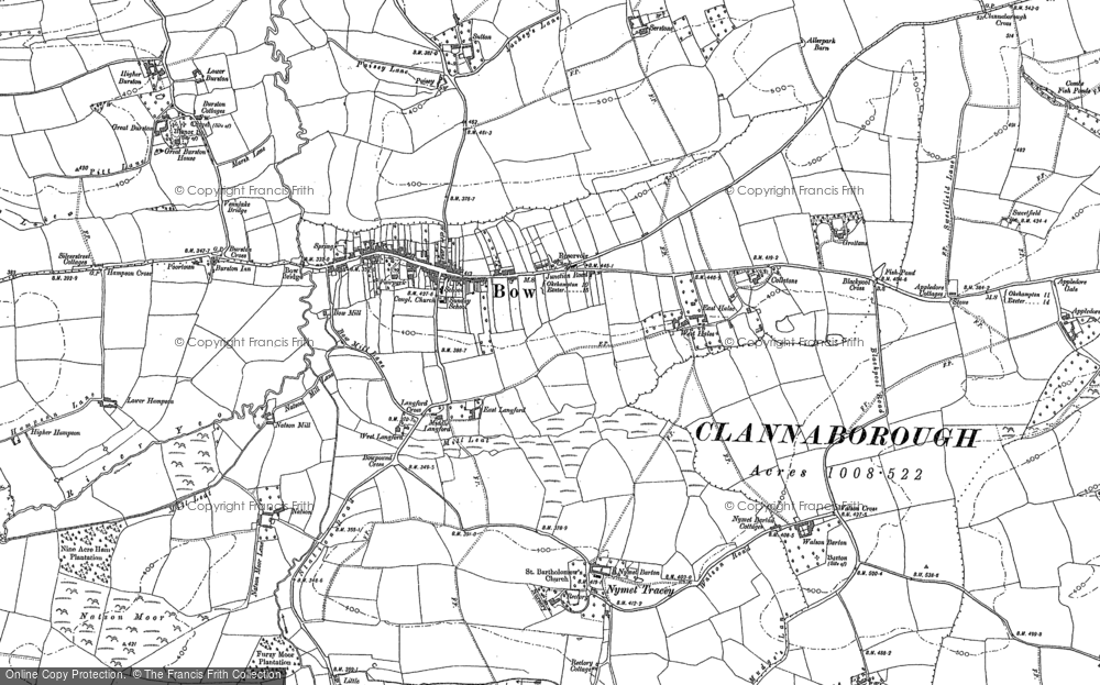 Old Map of Historic Map covering Langford in 1886