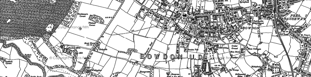 Old map of Bowdon in 1897