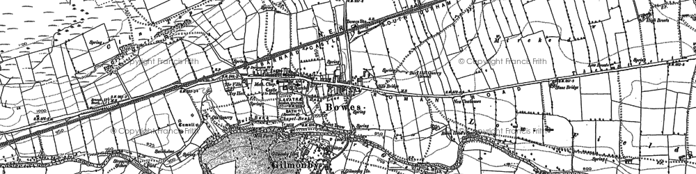 Old map of West Stoney Keld in 1912