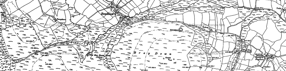 Old map of Bowithick in 1882