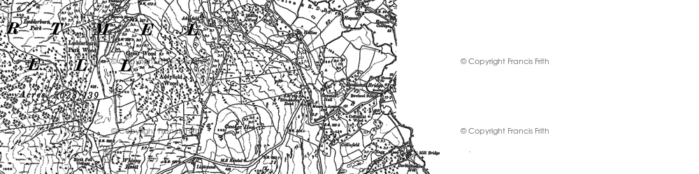 Old map of Barkbooth in 1897