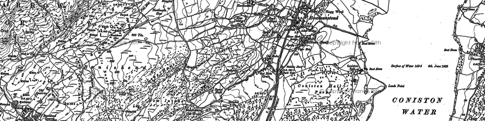 Old map of Park Gate in 1912
