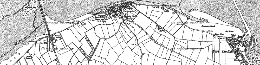 Old map of Whan Scar in 1899
