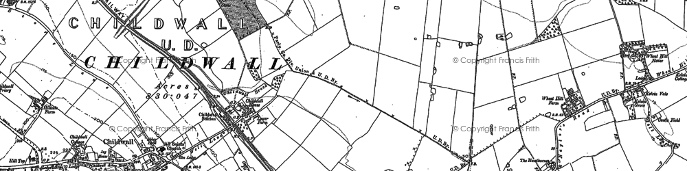 Old map of Bowring Park in 1891