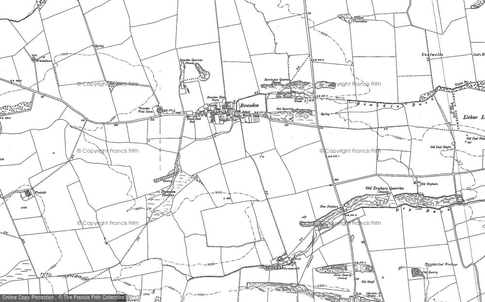 Old Map of Historic Map covering Woodend in 1897