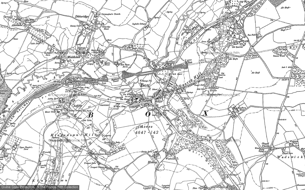 Old Maps Of Blue Vein Francis Frith