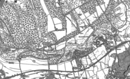 Old Map of Box Hill, 1895