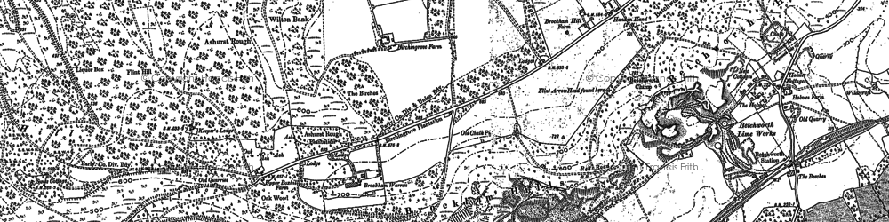 Old map of Box Hill in 1895