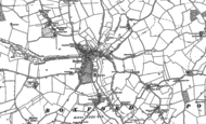 Old Map of Boxford, 1885