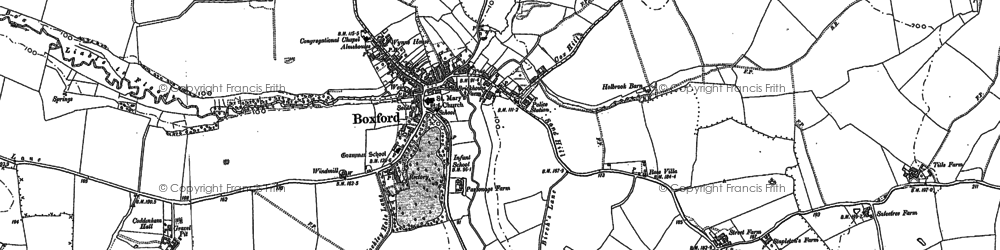 Old map of Whitestreet Green in 1885