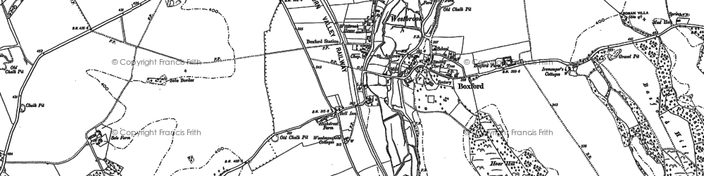 Old map of Boxford in 1898