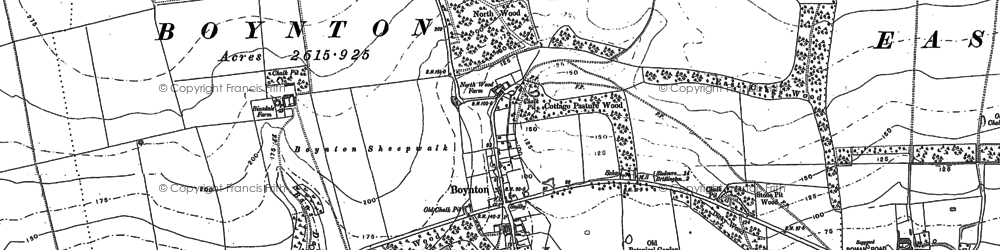 Old map of Boynton in 1888