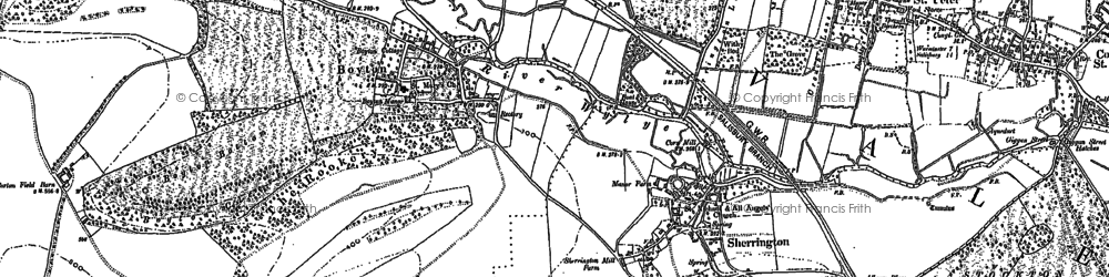 Old map of Boyton in 1899