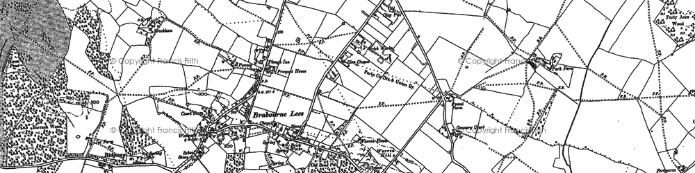 Old map of Lilyvale in 1896