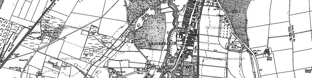 Old map of Whitehall in 1886