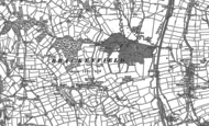 Old Map of Brackenfield, 1879